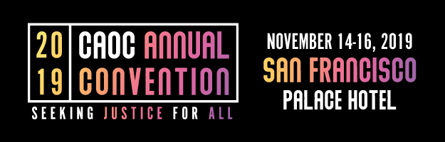 CAOC Annual Convention 2019 - CAOC Calendar of Events